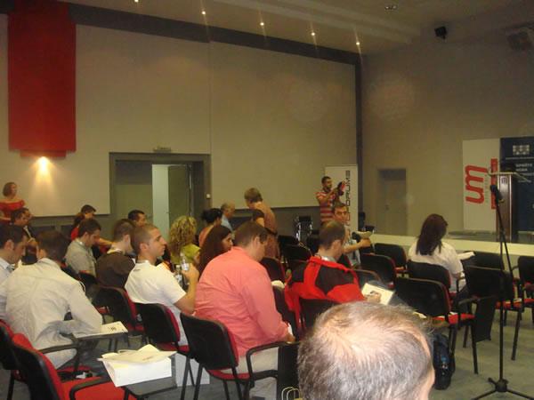 Преди започването на SEO конференция 2010